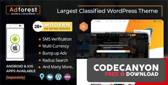 Download AdForest v4.4.3 – Classified Ads WordPress Theme (Nulled) Free / Nulled