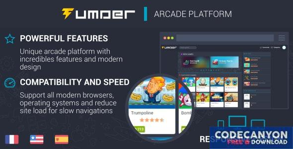 Download Tumder v2.1.5 - Responsive Arcade Script Free / Nulled