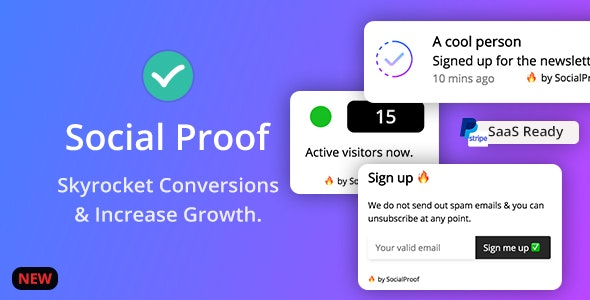Download Social Proof v1.4.4 - Skyrocket Conversions & Growth ( SaaS Platform ) Free / Nulled