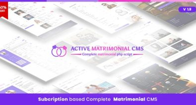 Download Active Matrimonial CMS v1.9 - Complete Matrimonial PHP Script Free / Nulled
