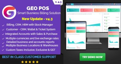 Download Geo POS v4.3 - Point of Sale, Billing and Stock Manager Application Free / Nulled