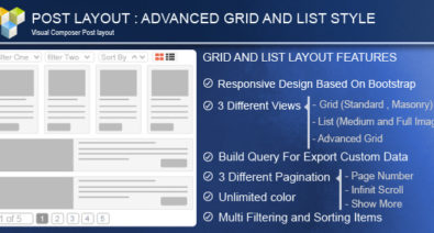Download Advance Post Grid v4.0 - List with custom filtering for Visual Composer Free / Nulled