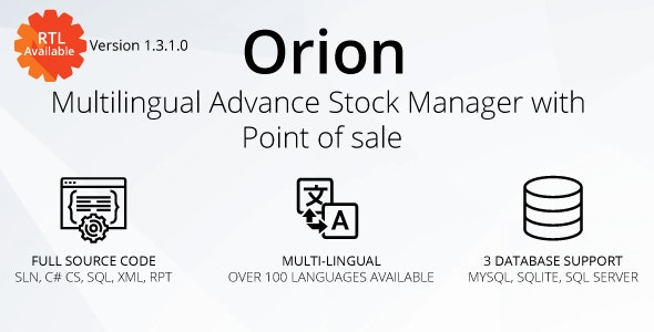 Download Orion v1.3.1.0 - Multilingual advance stock manager with Point of sale system Free / Nulled