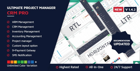 Download Ultimate Project Manager CRM PRO v1.4.2 - nulled Free / Nulled