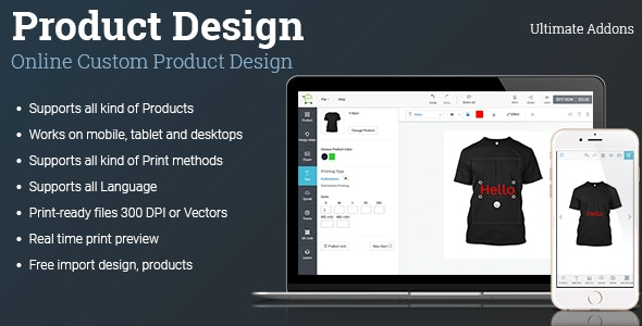 Download Ultimate Addons for Custom Product Designer v1.12.0 - WooCommerce, Opencart Free / Nulled