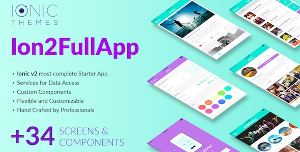 Download Ion2FullApp v1.1.3 - Full Ionic Template for Ionic 3+ Free / Nulled