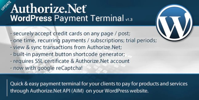 Download Authorize.Net v1.3 - Payment Terminal Free / Nulled