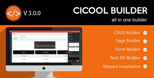 Download Cicool v3.0.0 - Page, Form, Rest API and CRUD Generator Free / Nulled