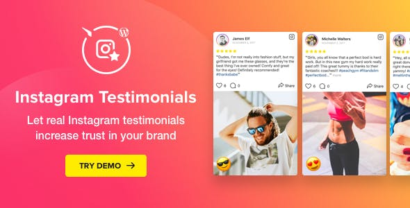 Download Instagram Testimonials v1.3.1 - Plugin for WordPress Free / Nulled