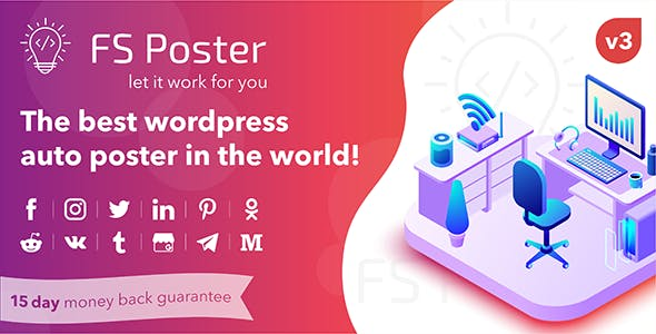 Download FS Poster v3.2.2 - WordPress auto poster & scheduler Free / Nulled
