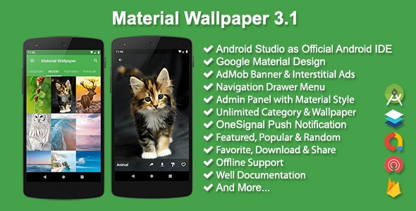 Download Material Wallpaper v3.1 - Mobile App Free / Nulled