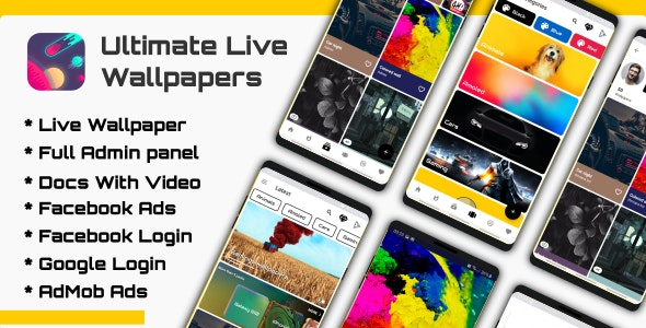 Download Ultimate Live v1.0 - Wallpapers Application (GIF/Video/Image) Free / Nulled