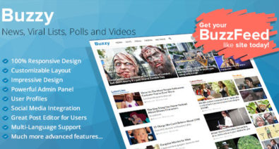 Download Buzzy v3.0.2 - News, Viral Lists, Polls and Videos Free / Nulled