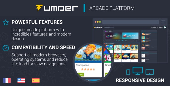 Download Tumder v2.1.6 - Responsive Arcade Script Free / Nulled