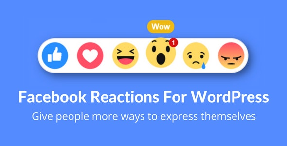 Download Facebook Reactions v2.2 - For WordPress Free / Nulled