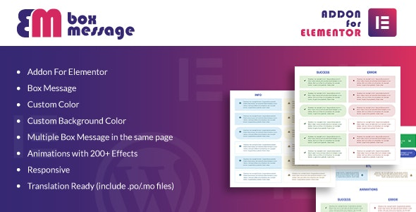 Download Box Message for Elementor v1.0 - WordPress Plugin Free / Nulled