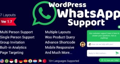 Download WordPress WhatsApp Support v1.8.2 - WP Plugin Free / Nulled