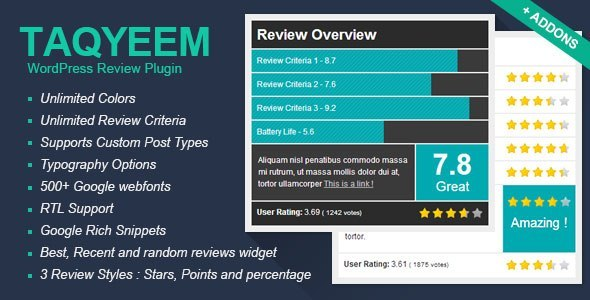 Download Taqyeem v2.2.6 - WordPress Review Plugin Free / Nulled