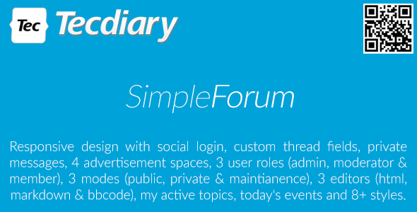 Download Simple Forum v1.3.7 - Responsive Bulletin Board Free / Nulled