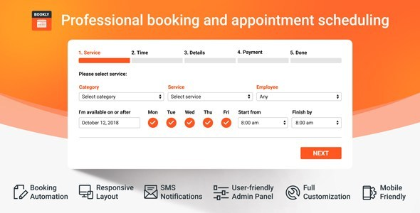 Download Bookly PRO v17.6 - Appointment Booking and Scheduling Software System Free / Nulled
