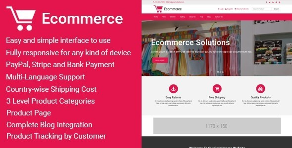 Download Ecommerce v1.5 - Responsive Ecommerce Business Management Script Free / Nulled