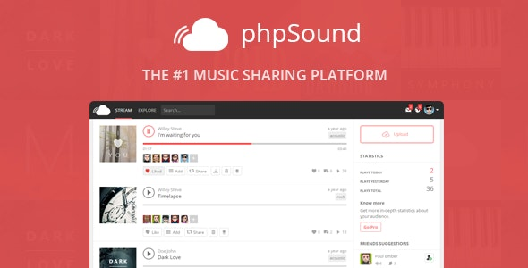 Download phpSound v5.1.0 - Music Sharing Platform Free / Nulled