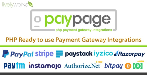Download PayPage v1.2.0 - PHP ready to use Payment Gateway Integrations Free / Nulled