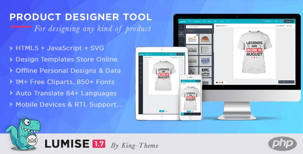Download Lumise Product Designer Tool v1.7.3 - PHP Version Free / Nulled