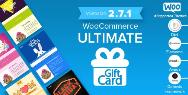Download WooCommerce v2.7.1 - Ultimate Gift Card Free / Nulled