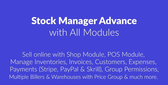 Download Stock Manager Advance v3.4.25 - with All Modules Free / Nulled