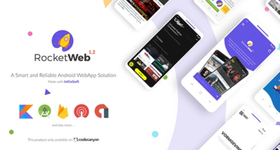 Download RocketWeb v1.2 - Configurable Android WebView App Template Free / Nulled