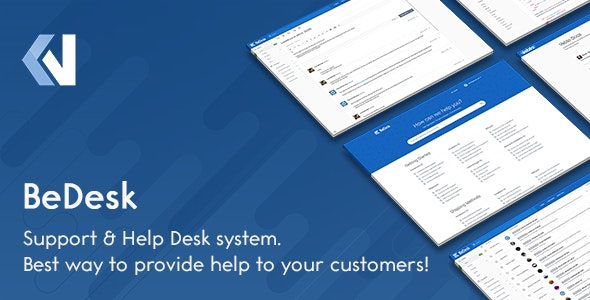 Download BeDesk v1.2.5 - Customer Support Software & Helpdesk Ticketing System Free / Nulled
