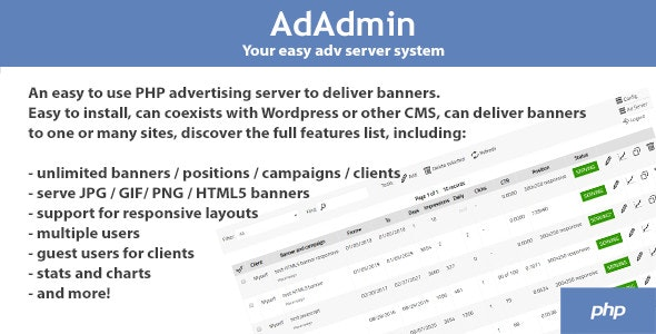 Download AdAdmin v3.80 - Easy adv server (adversting platform) Free / Nulled