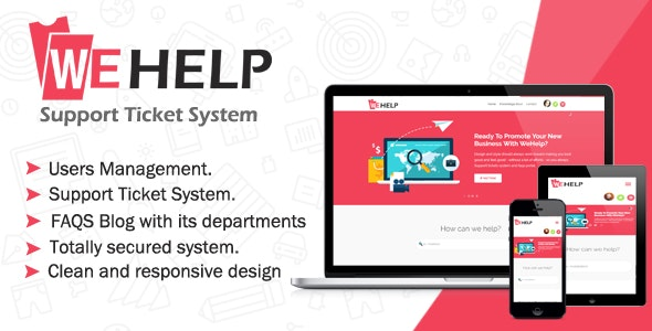 Download WeHelp v3.5 - Ticket Support System Free / Nulled