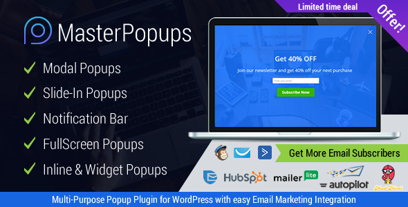 Download Master Popups v3.0.3 - Popup Plugin for Lead Generation Free / Nulled