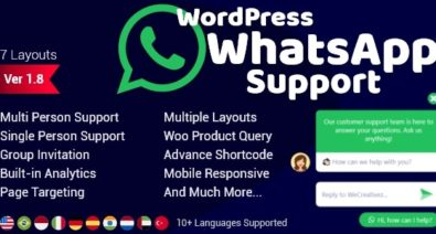 Download WordPress WhatsApp Support v1.8.4 - WP plugin Free / Nulled