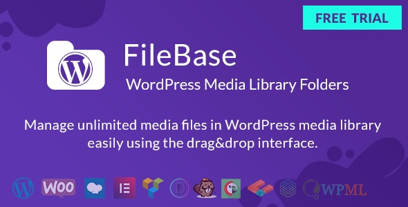 Download FileBase v1.2.2 - Ultimate Media Library Folders for WordPress Free / Nulled