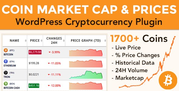 Download Coin Market Cap & Prices v3.6.4 - WordPress Cryptocurrency Plugin Free / Nulled