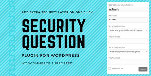 Download Security Questions Pro v3.0.5 - WP Plugin Free / Nulled
