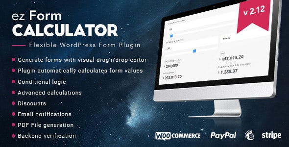 Download ez Form Calculator v2.12.0.3 - WP Plugin Free / Nulled