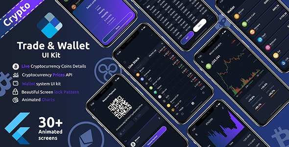 Download Crypto Trade & Wallet Flutter v1.0 - UI Kit Free / Nulled