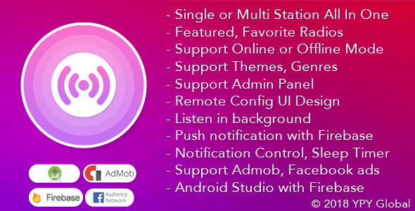 Download XRadio v3.4 - Best Radio Template For Android Free / Nulled