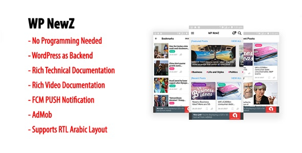 Download WP NewZ v2.2 - WordPress to Android News App Free / Nulled