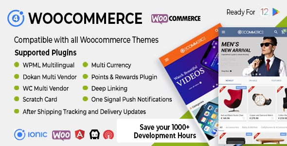 Download Ionic Woocommerce v3.0.1 - Universal iOS & Android Ecommerce / Store Full Mobile App Free / Nulled