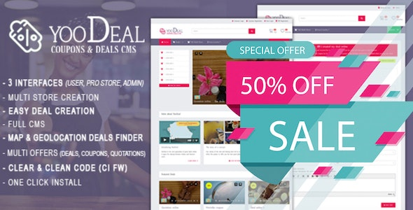Download YooDeal v1.2.1 - Coupon, Deal & Online Quotation Free / Nulled