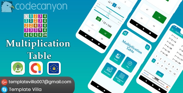 Download Multiplication Table, Learn and Play v1.0 - Free / Nulled