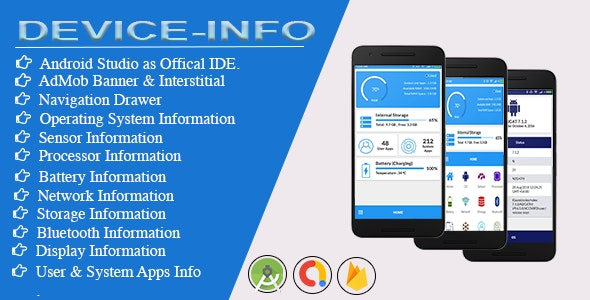 Download Device Info for android with Admob v1.2.0 - Free / Nulled