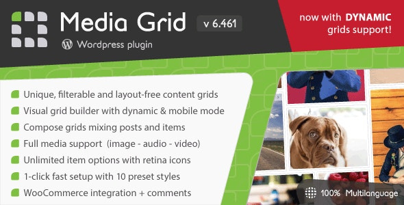 Download Media Grid v6.461 - WordPress Responsive Portfolio Free / Nulled