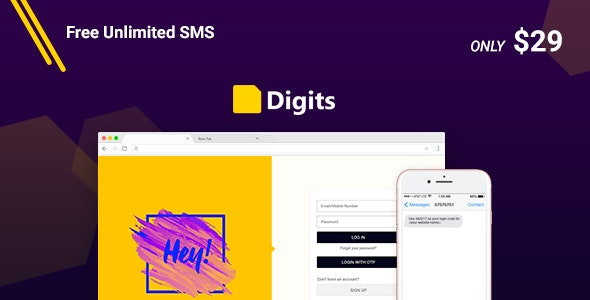 Download Digits v6.10.0.8 - WordPress Mobile Number Signup and Login Plugin Free / Nulled