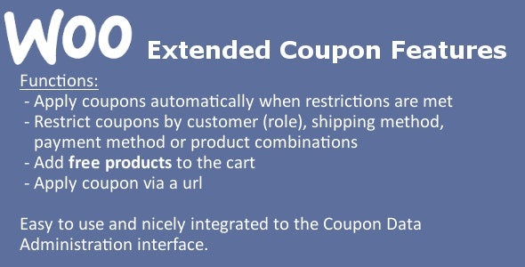 Download WooCommerce Extended Coupon Features PRO v3.1.1 Free / Nulled